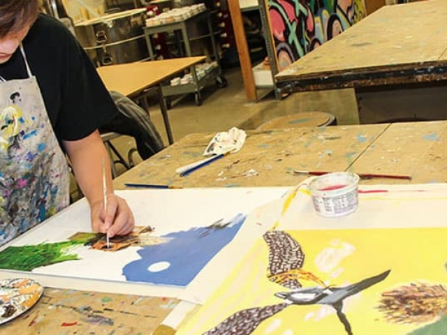 MS Student Painting Banner